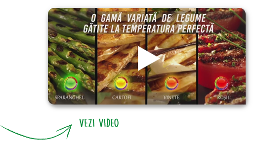 A large variety of vegetables grilled at their optimal temperature level | Play the video