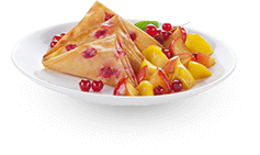 Actifry plate: fruits with sweet samoussas dessert recipe